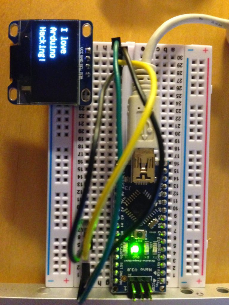 Oled 128x64 Ssd1306 Display Amp Arduino How To Get Started