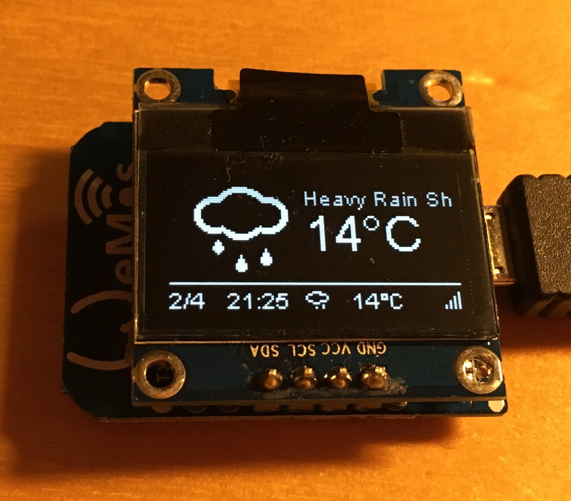 New Weather Station Demo based on Platformio